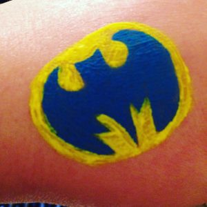 Batman UV Body Paint