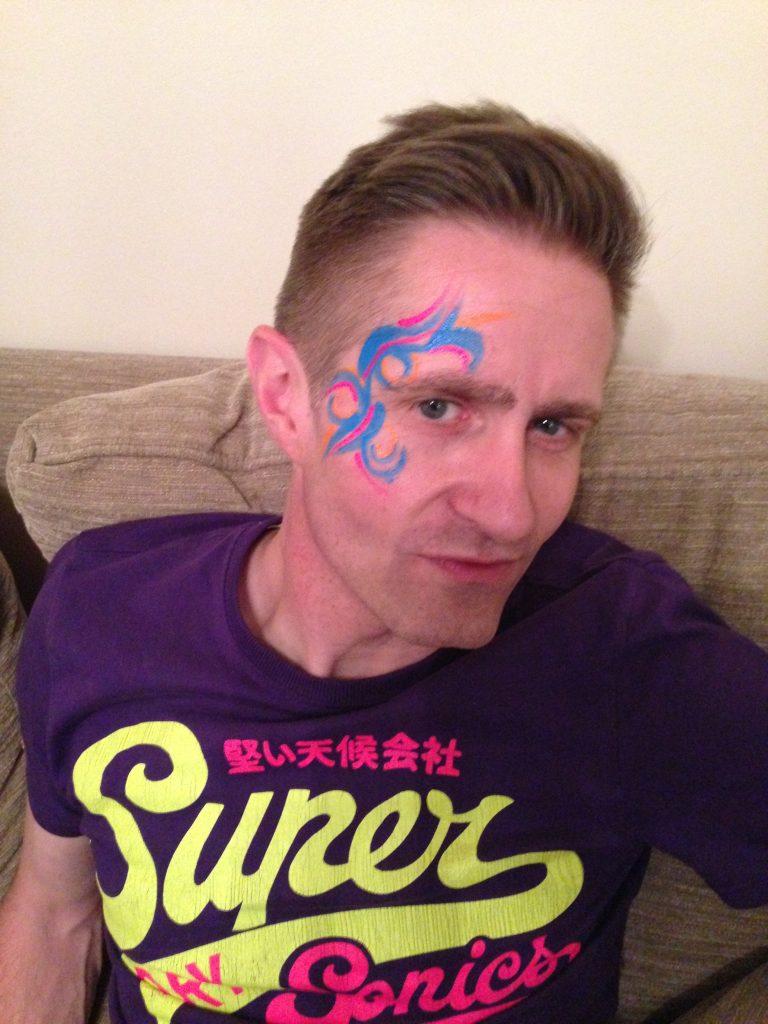 Men's Tribal Rave Face Paint