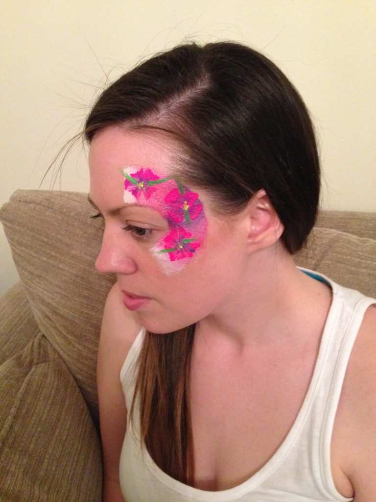 Neon Flower Rave Face Paint
