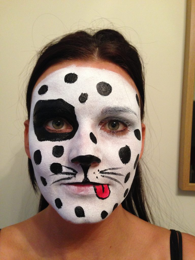 Dalmatian Dog Face Paint
