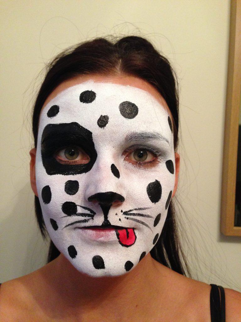 Dalmatian Dog Face Paint