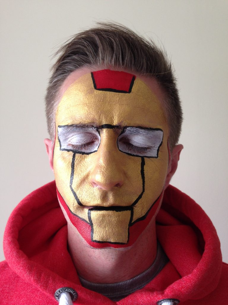 Iron Man Face Paint