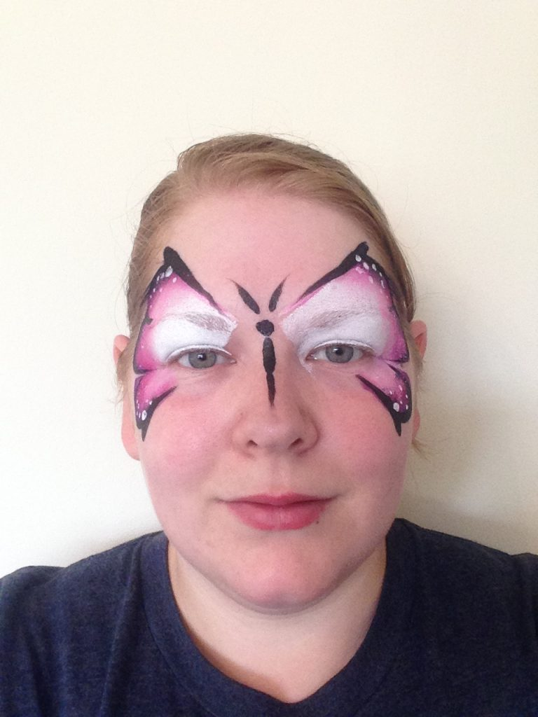 One Stroke Butterfly Face Paint