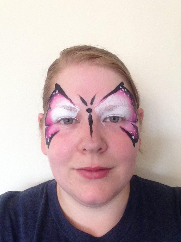 One Stroke Butterfly Face Paint