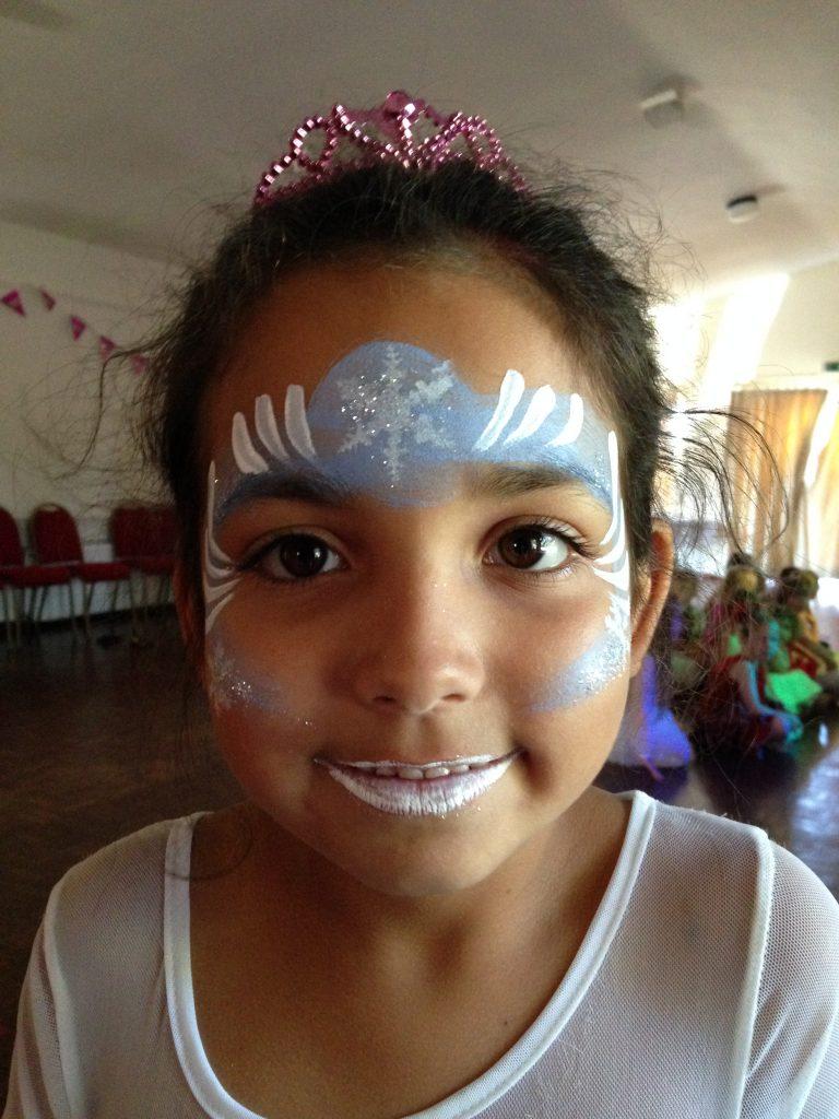 Elsa Frozen Crown Face Paint