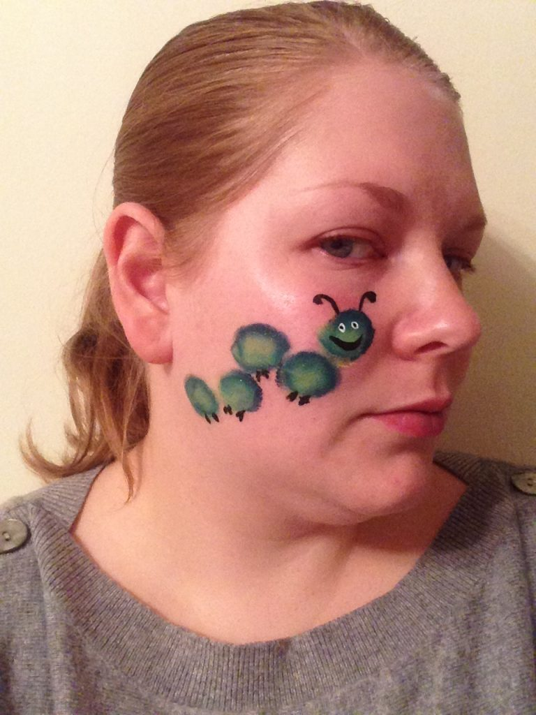 Caterpillar Face Paint