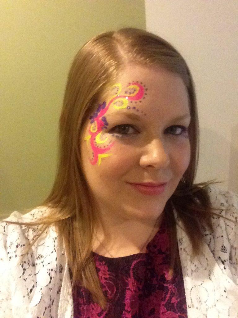 Ladies Tribal Rave Face Paint