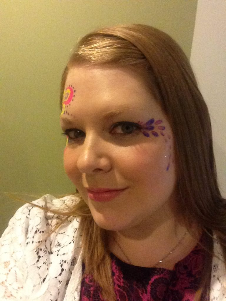 Ladies Petal Rave Face Paint