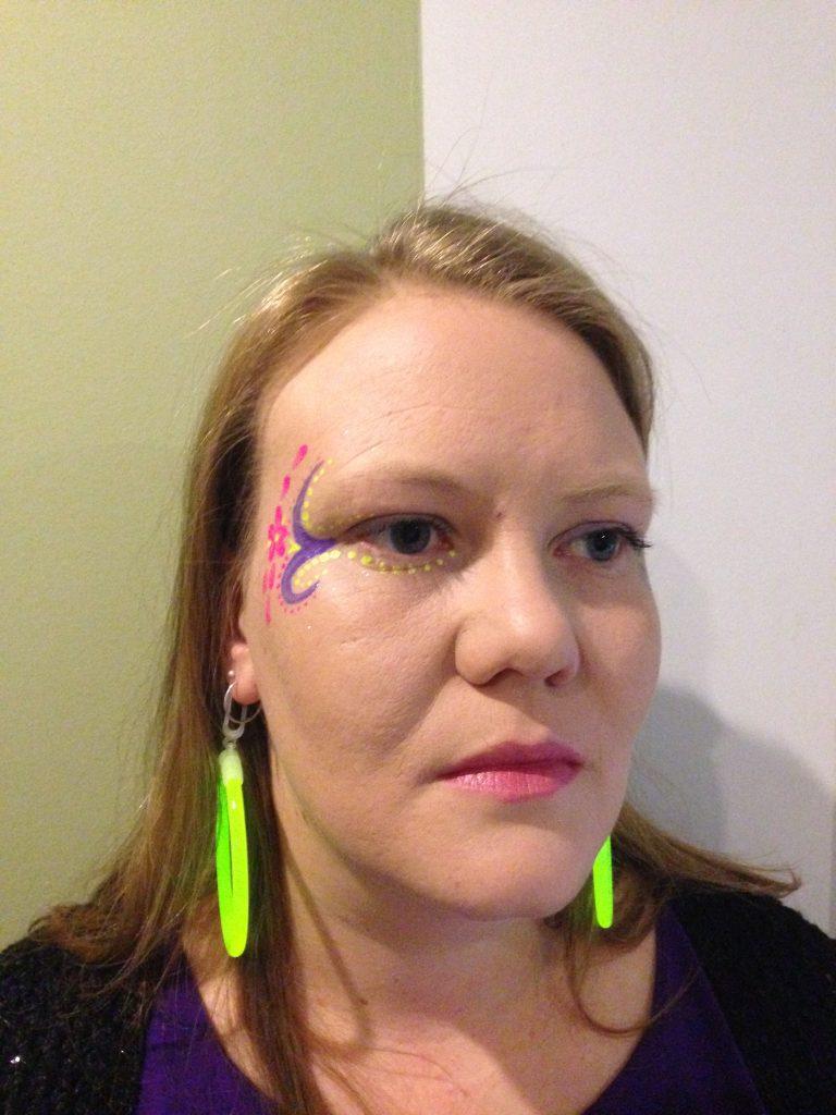 Ladies Tribal Petal Rave Face Paint