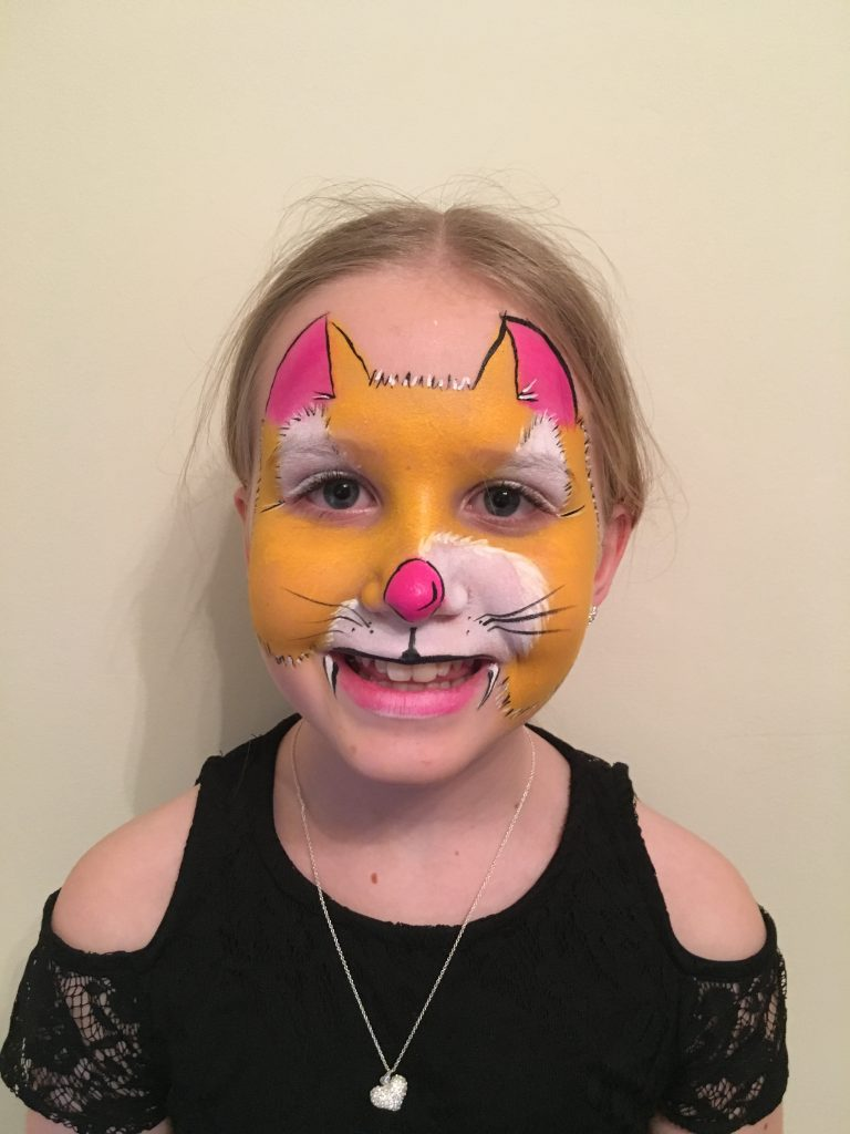 Ginger Cat Face Paint