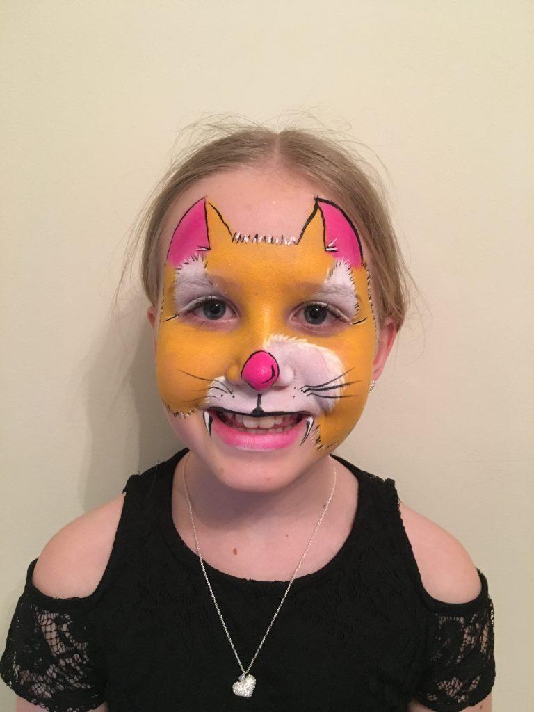 Ginger Cat Face Paint