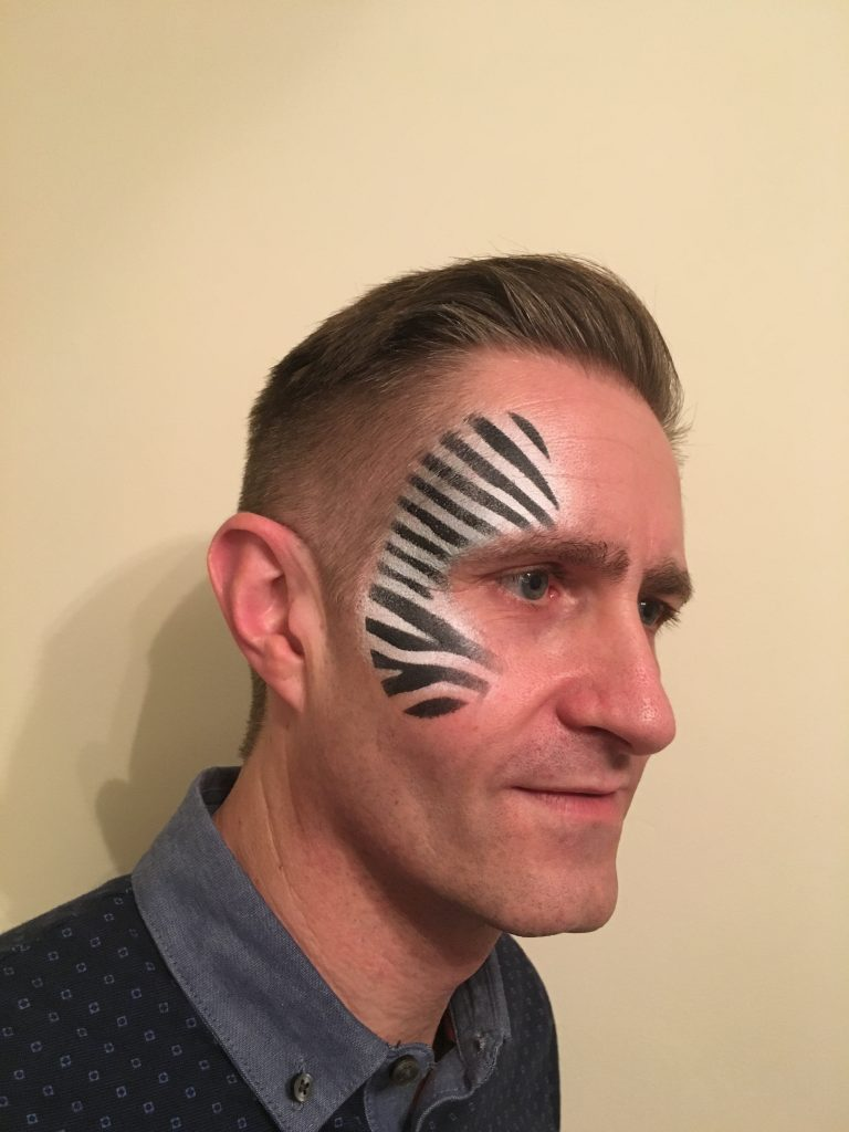 Zebra Print Face Paint