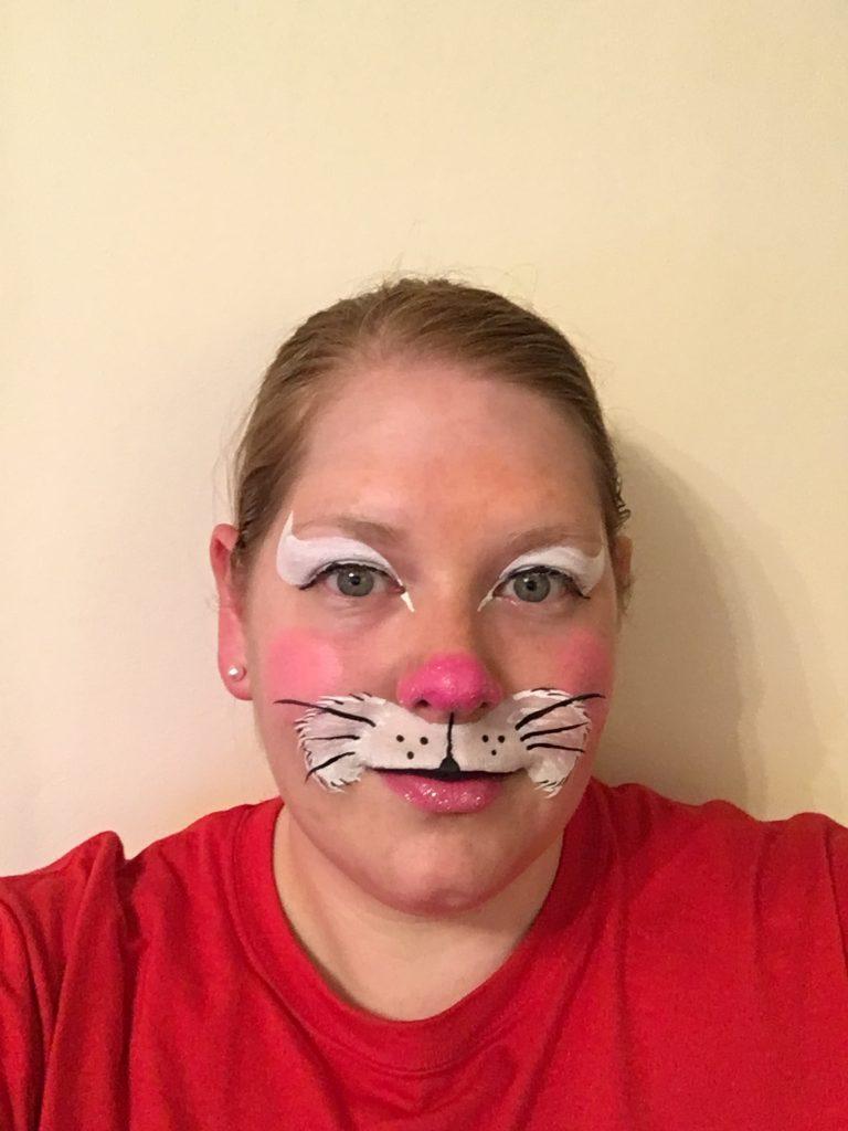 Simple Bunny Face Paint