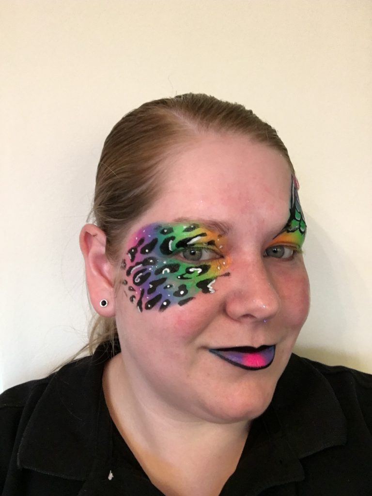 Rainbow Halloween Face Paint