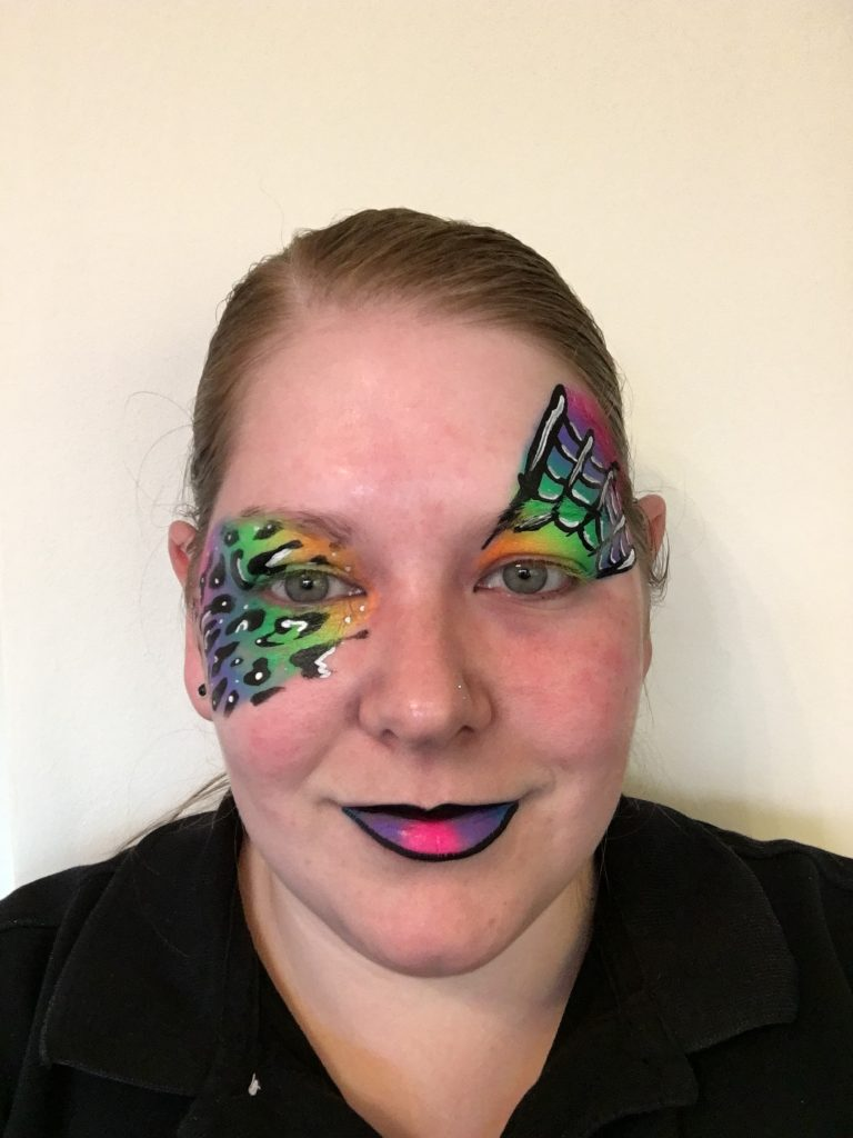 Rainbow Halloween Face Paint