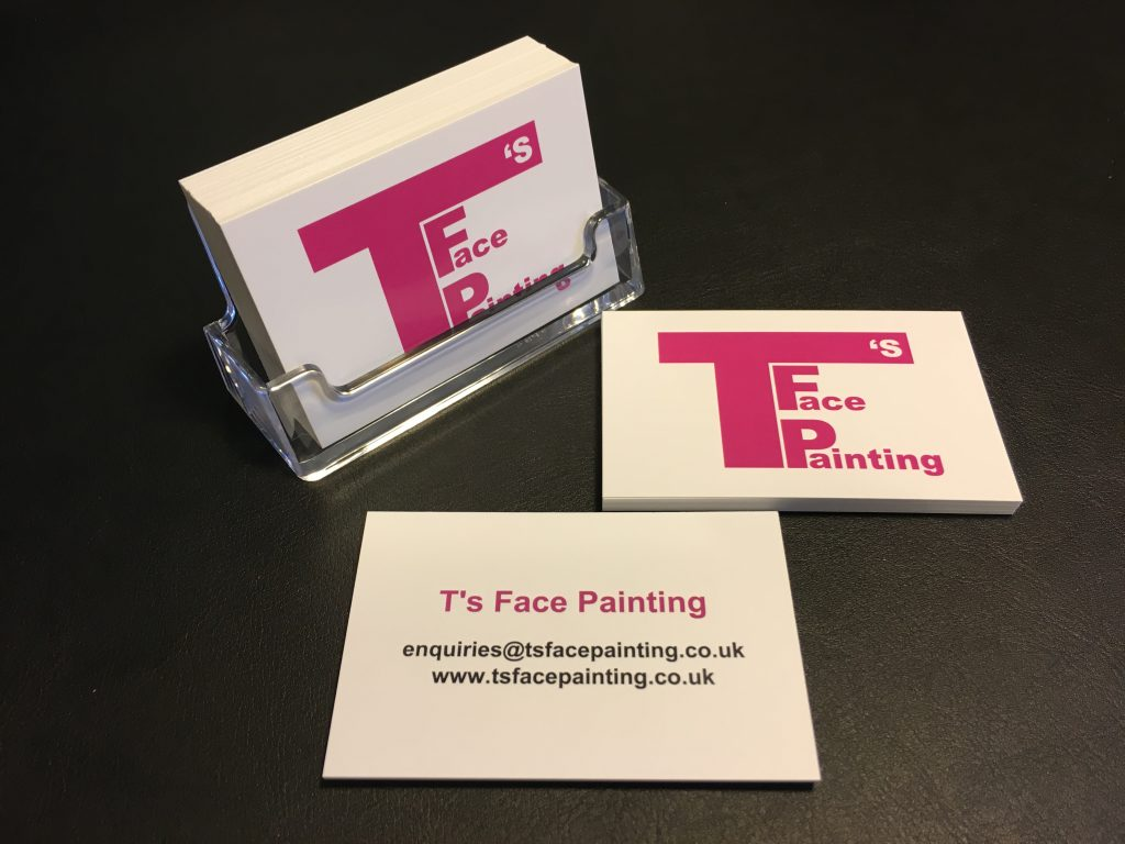 T's Face Painting Business Cards