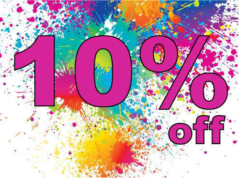 Get 10% off during March and April 2017